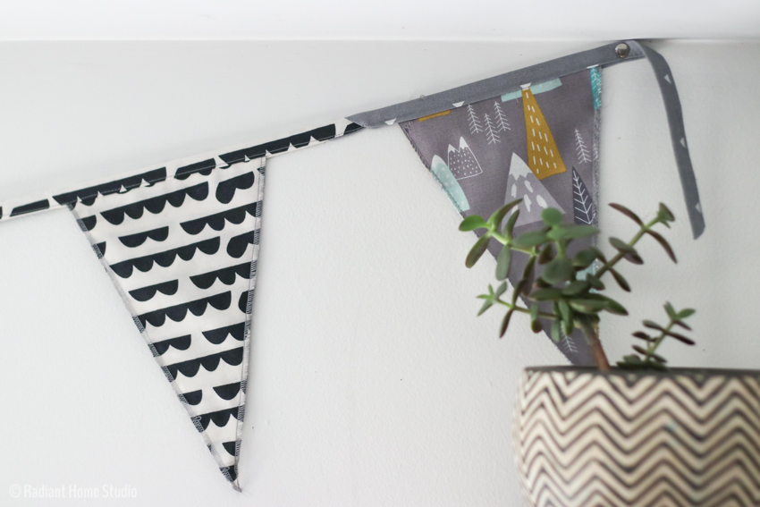How to Sew a Pennant Banner For Parties | DIY Bunting or Mordern Pennant Flags | Radiant Home Studio