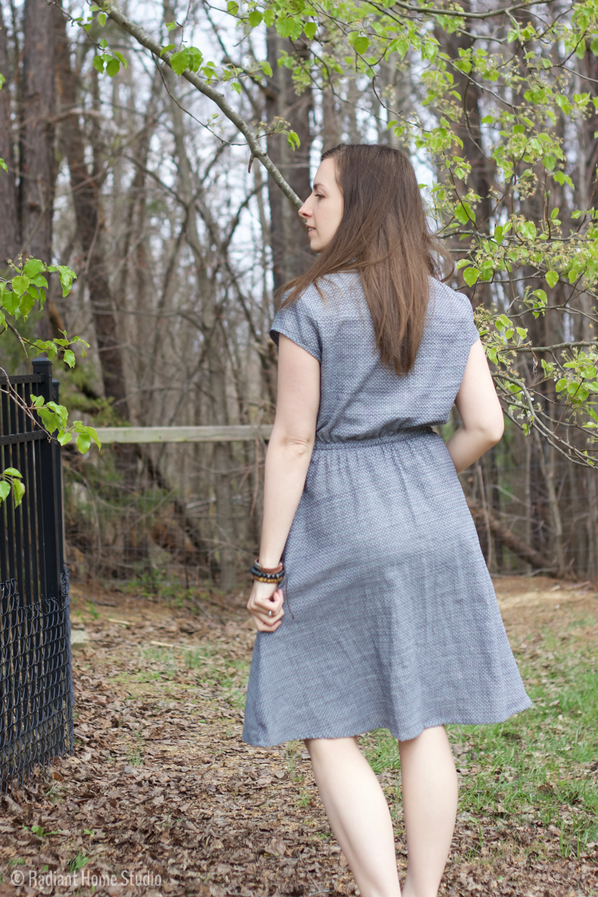 Marigold Dress in Chambray | Blank Slate Patterns | Radiant Home Studio