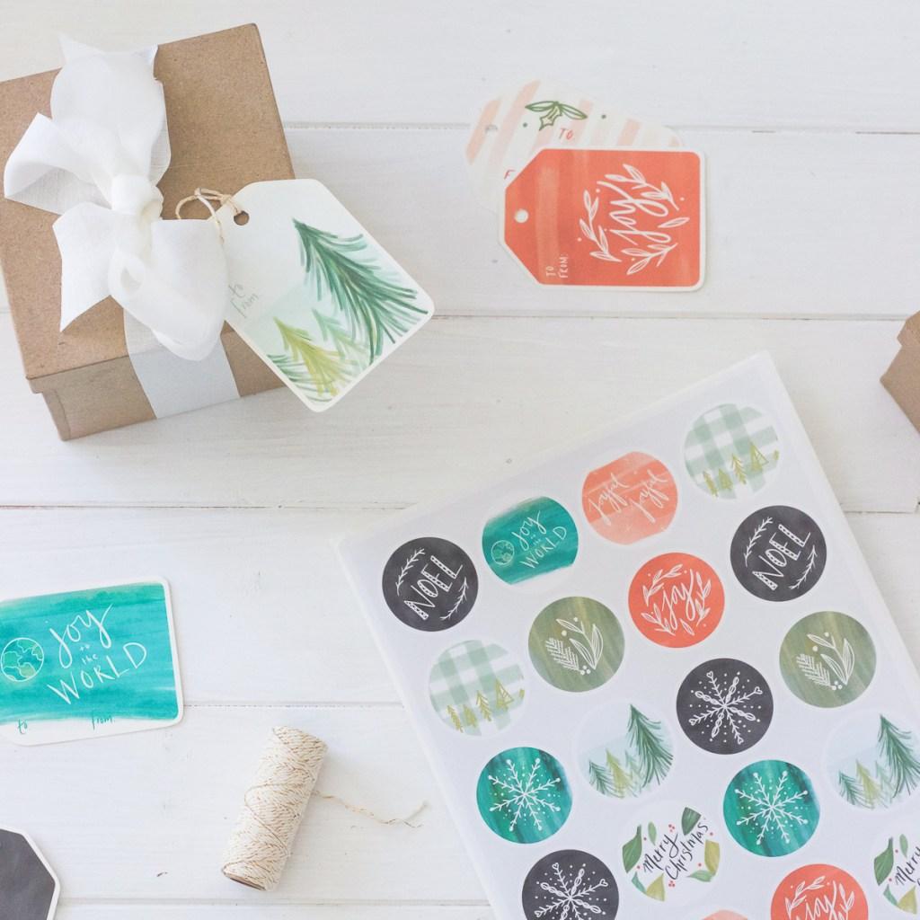 Fresh Vintage Printable Christmas Gift Tags, Stickers, & Art Prints | Radiant Home Studio