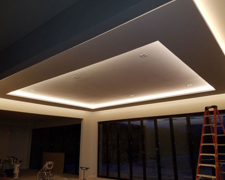 lighted drywall ceiling