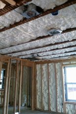 exterior walls & ceiling spray foam insulation - 1