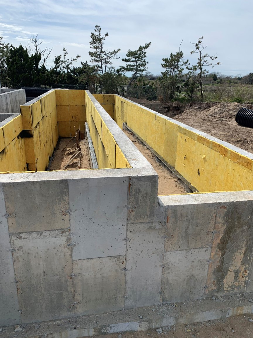 home foundation drainage board