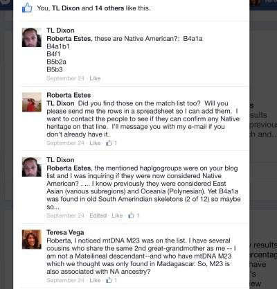 Response to Roberta's post on Sept. 24, 2014