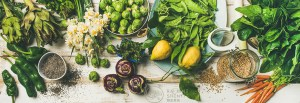 Beautiful green vegetables for spring health Chinese dietary therapy