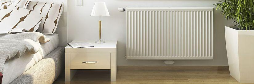 Стальной радиатор отопления в интерьере