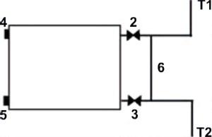 Схема подключения радиатора для однотрубной системы