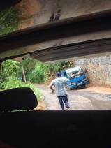 A lovely driver running after our suitcases as they rolled out of the boot as we sped uphill in Kandy.