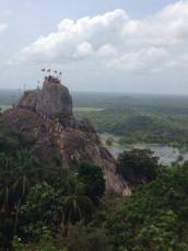 One of our views of Mihintale rock, which we climbed up. The place where Buddhism was brought to Sri Lanka - celebrated whilst we were here with the festival of Poson.