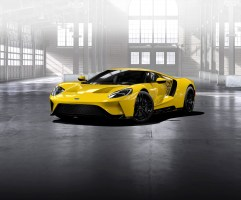 GT Configurator: Triple yellow Ford GT front three quarter