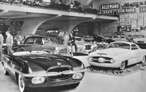 1953_Ghia_Dodge_Firearrow-I_and_Abart_Fiat_1100_(Turin)