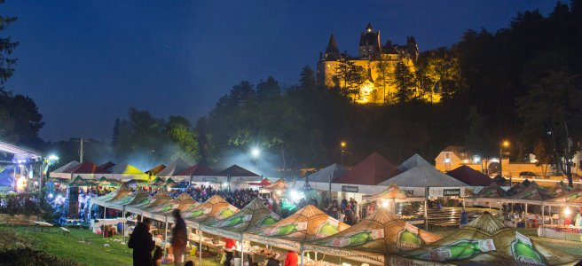 Sambra Oilor Festival at Bran Castle