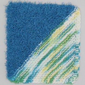 Blue Varigated HalfHalf Knit Cloth