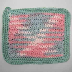 Bubblegum_with_teal_border_rustic_Crochet_Cloth