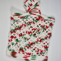 Christmas Small Crochet Cotton Market Bag