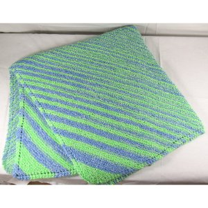 Blue Green Baby Blanket
