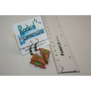 Sandwich Clay Earrings