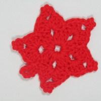 Red Crochet Star