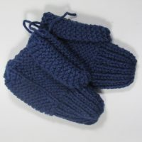 Small Blue Knit Child Slippers