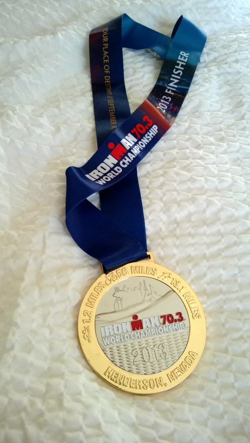 """My Papa went to Las Vegas and all I got was this ginormous medal for when I play ""Olympics"" with my siblings."""