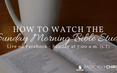 How to Watch the Live Sunday Morning Bible Study on Facebook