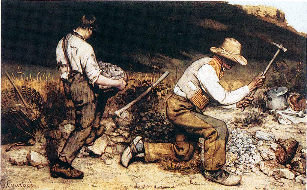 I tagliapietre, dipinto del 1849 di G. Courbet