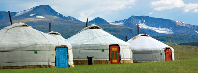 tende dei nomadi della steppa