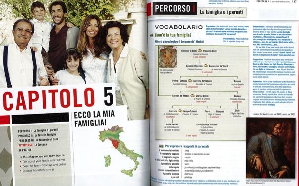"""Inserto riferito alla cultura """"alta"""": l'albero genealogico dei De Medici"""