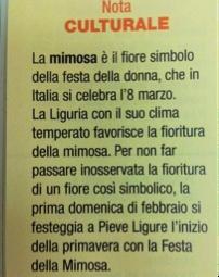 Nota culturale sul significato della mimosa in Italia