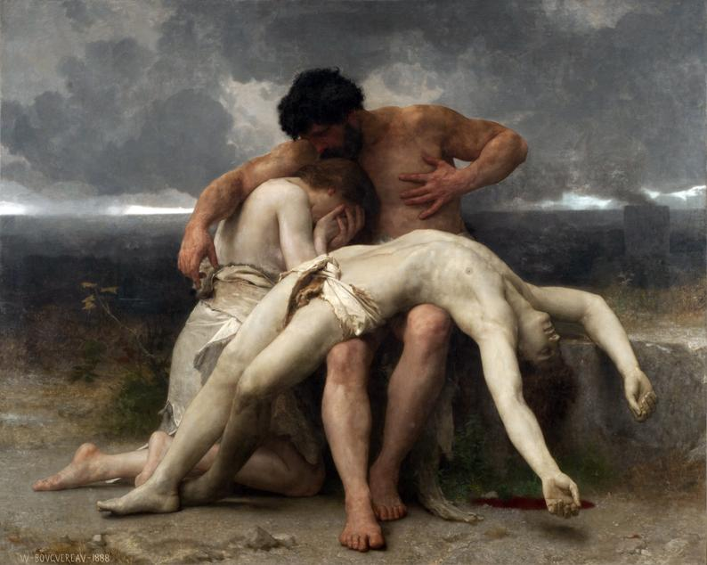 """Il primo lutto"" di William-Adolphe Bouguereau, 1888"