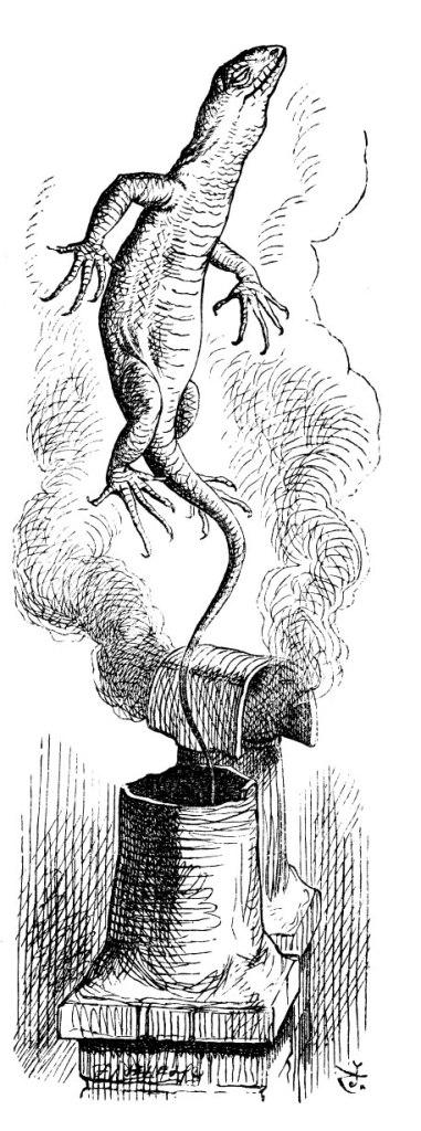 Bill, la lucertola di Alice nel mondo delle meraviglie, dall'edizione originale