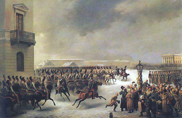 Decembrist Revolt by Georg Wilhelm Timm