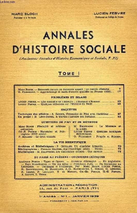 Le Annales di Bloch e Febvre. Immagine reperibile a questa url