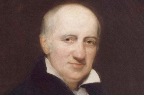 Il filosofo William Godwin, padre di Mary Shelley. Immagine reperibile a questo link.