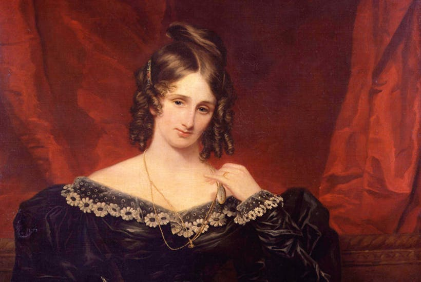 Mary Shelley da adolescente. Immagine reperibile a