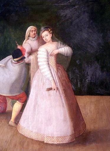 Isabella Andreini, poeta e una delle prime donne a calcare le scene teatrali.