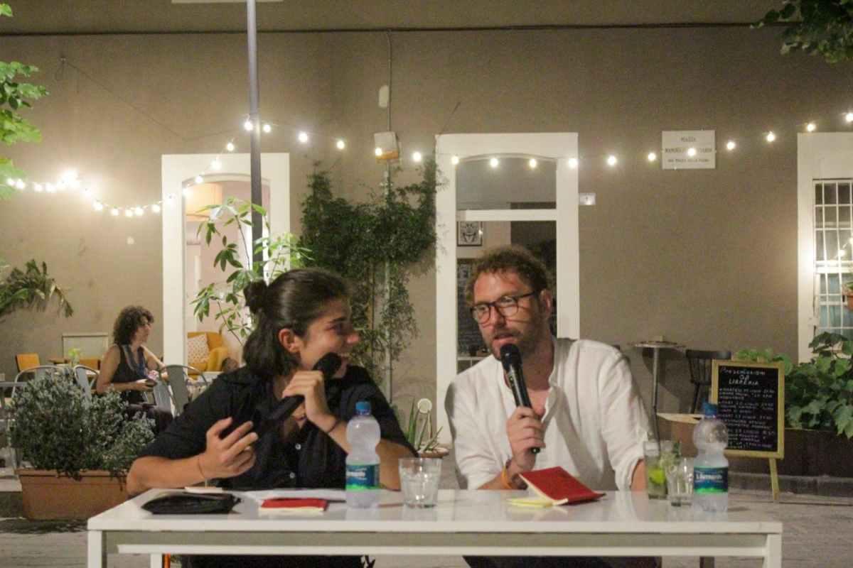 Camilla Ronchi e Alessandro Ardigo alla Libreria Quanto Basta di Grosseto, luglio 2021
