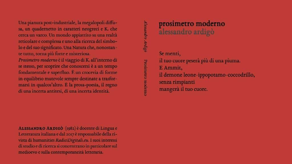 Prosimetro Moderno, ovvero Le avventure di K. – intervista ad Alessandro Ardigò