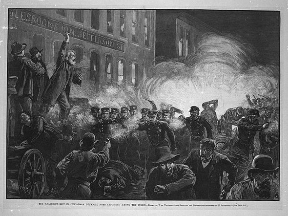 The Haymarket Riot, Harper's Weekly
