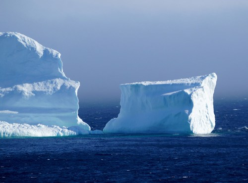 The first iceberg of the season passes the South Shore of Newfoundland