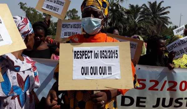 Violation : Les femmes veulent une application de la loi 025/2015