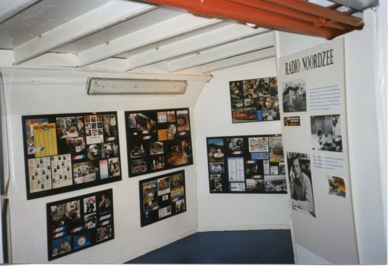 The small offshore radio museum onboard