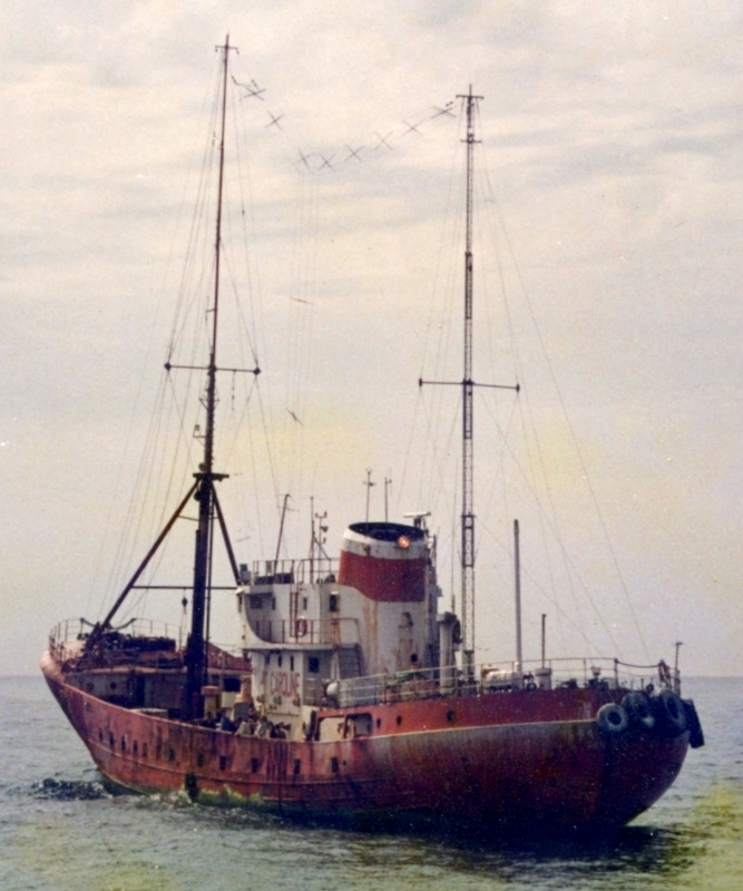 The Ross Revenge, the famous radio ship used by Radio Caroline from 1983 to the present day