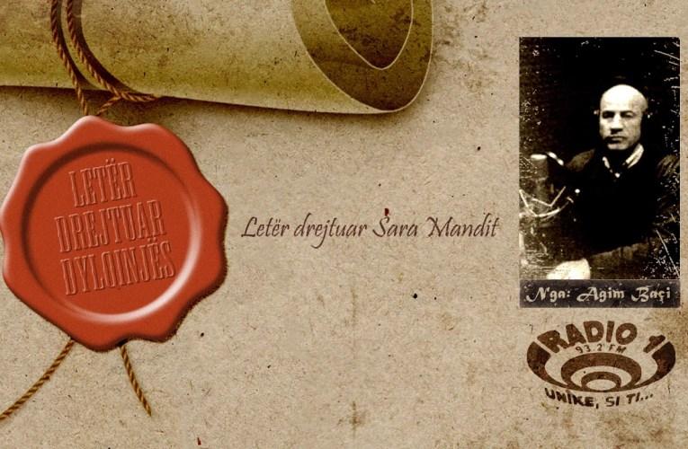 Letër drejtuar Dylqinjës   Letër drejtuar Sara Mandit