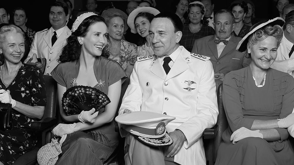 Perón y Eva, todavía Duarte, en la platea del Luna Park, en 1944