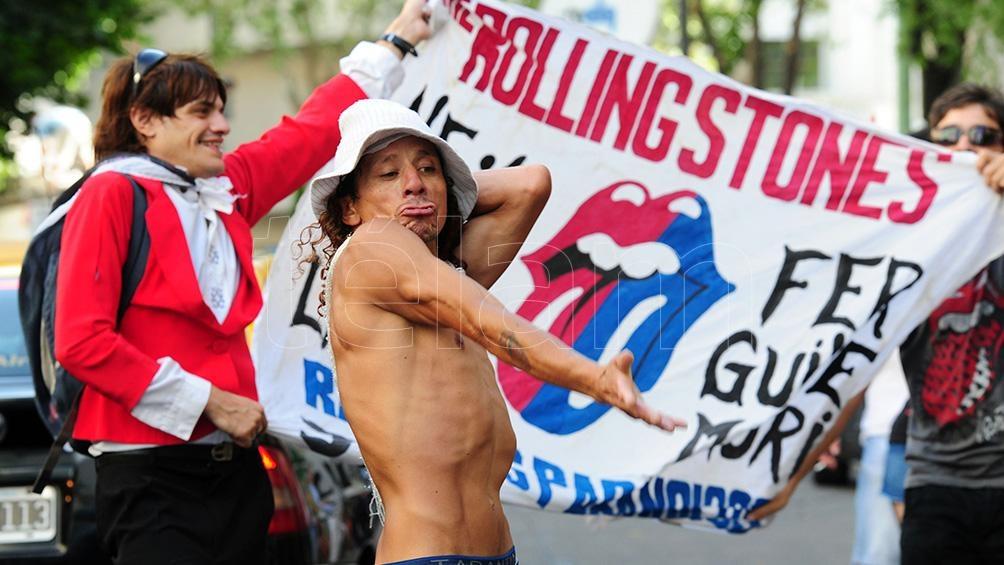 Los fans argentinos de los Rolling Stones ovacionaron a Watts una y otra vez
