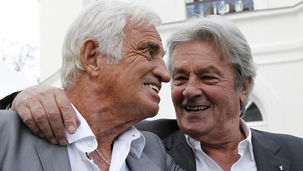 Belmoindo y Delon: dos potencias se saludan.