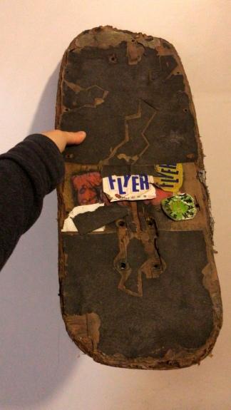 La tabla de skate de Corvatta, pieza de colección.