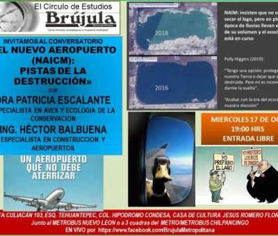 Dra Patricia Escalante especialista en conservacion ecológica y aves, Ing. Hector Balbuena especialista en construccion y aeropuertos