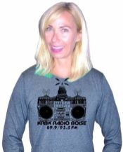 You give to Radio Boise, you get awesome stuff. Like this long-sleeved tee. Visit http://radioboise.us, click on the premium of your choice and fill out the donation form - it takes 2 minutes! #KRBXFallRadiothon #radioboise
