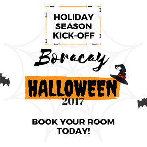 Boracay Events: Holiday Season Kick Off - Halloween Invite Poster
